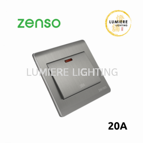 Zenso Switch Metallo 20a Silver