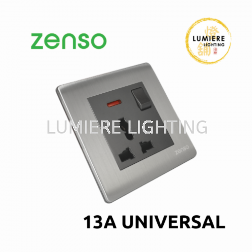 Zenso Switch Metallo 13a Universal Silver
