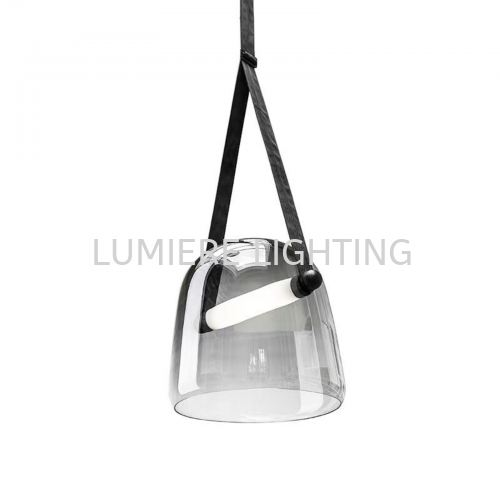 Nordic Minimalist Smoke Glass Pendant Light