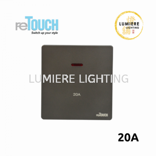 Retouch Switch 20a/45a Matte Grey