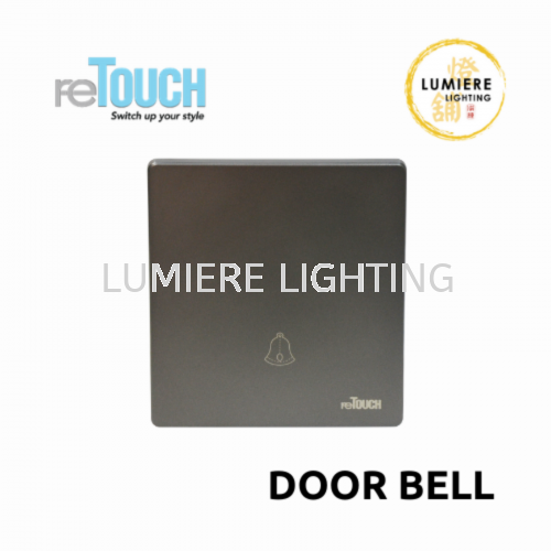 Retouch Switch Door Bell Matte Grey