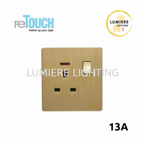 Retouch Switch 13a/13a USB Texture Gold