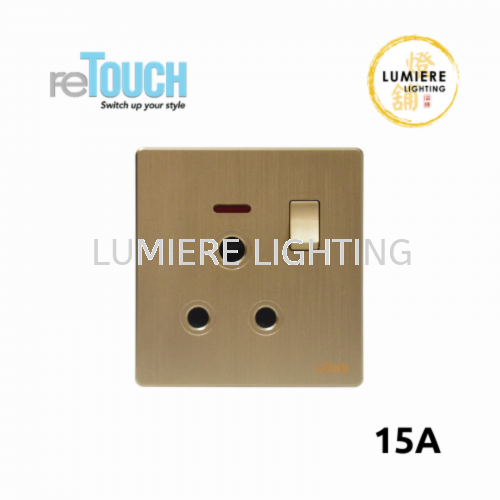 Retouch Switch 15a Texture Gold