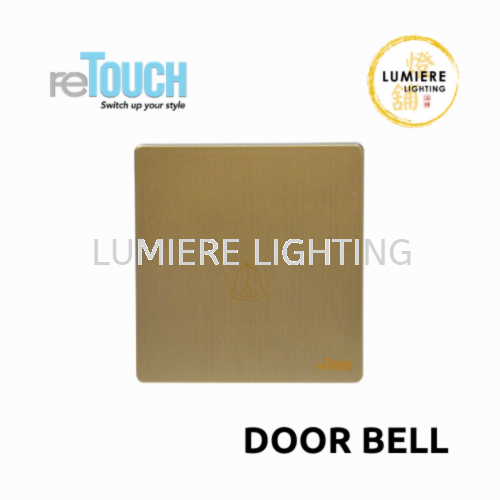 Retouch Switch Door Bell Texture Gold