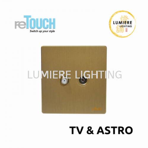 Retouch Switch TV/Astro Texture Gold