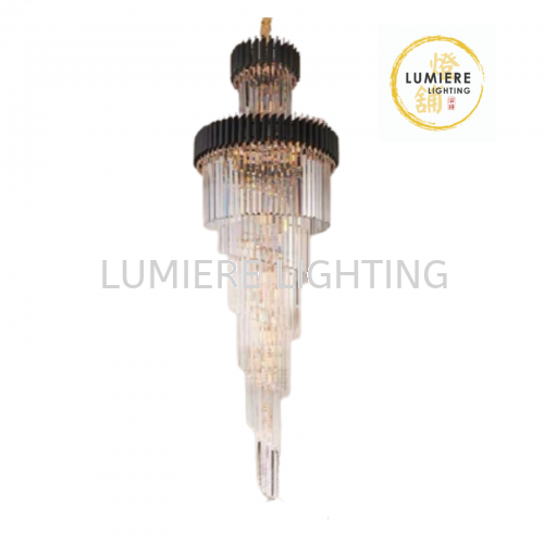 Crystal Double Ceiling Pendant Light 12696
