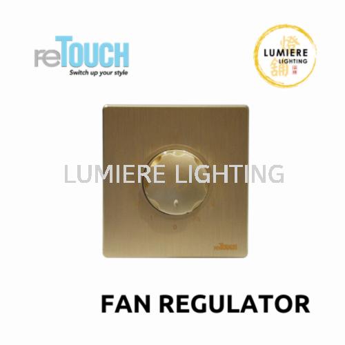 Retouch Switch Fan Regulator Texture Gold