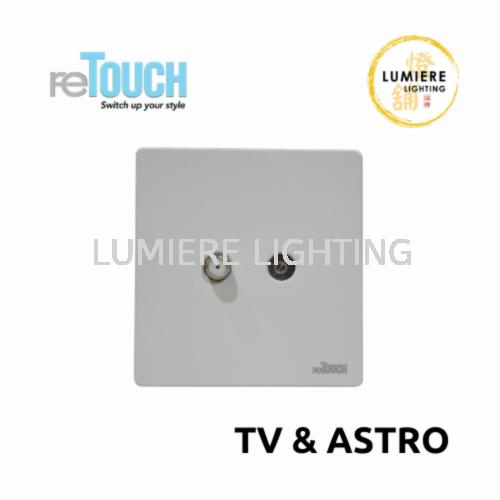 Retouch Switch TV/Astro White