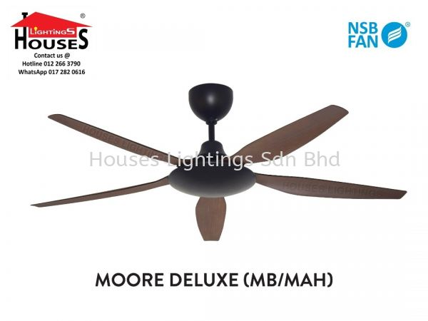 MOORE DELUXE - MHGN(MBK+MHGN) - 5B(56'')-NSB New Arrival NSB Ceiling Fan Ceiling Fan Selangor, Malaysia, Kuala Lumpur (KL), Puchong Supplier, Suppliers, Supply, Supplies   Houses Lightings Sdn Bhd