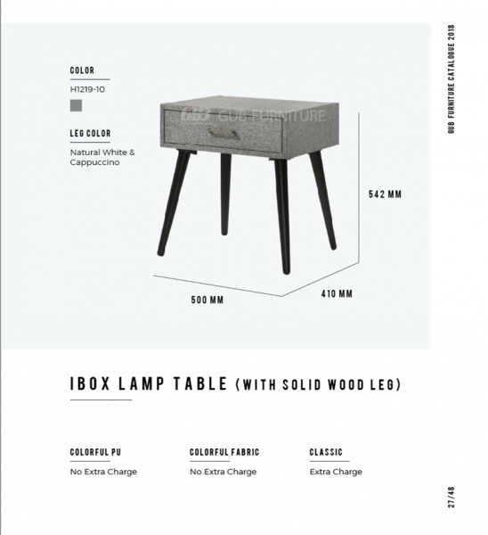 Ibox lamp table Chest drawer  Bedroom Set Melaka, Malaysia Supplier, Suppliers, Supply, Supplies | GOODMARK FURNITURE CENTRE SDN BHD