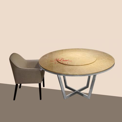 Light Emperador | 8 seaters | Dining Table only