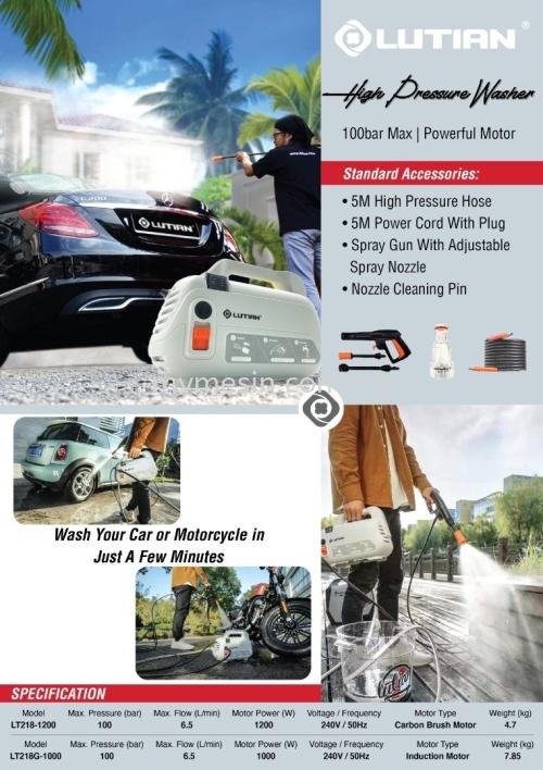 Lutian LT-218 High Pressure Cleaner