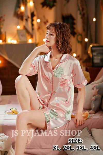Korea Style Ice Silk Short Pant Short Sleeve Women Shorts Pyjamas Set Women Sleepwear Pyjamas Johor, Malaysia, Batu Pahat Supplier, Wholesaler, Supply, Supplies | Sexy Accessories Trading