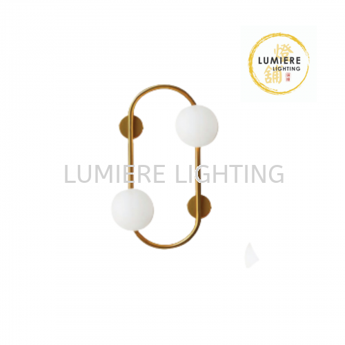 Modern Minimalist Nordic Milky Glass Design Wall Light