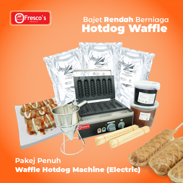 Waffle Hotdog Electric Machine Package Business Package Kuala Lumpur, KL, Malaysia Supply, Supplier, Suppliers | Fresco Cocoa Supply PLT