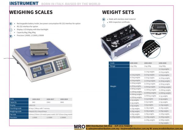 Weighing Scales & Weight Sets Instrument DASQUA Selangor, Malaysia, Kuala Lumpur (KL), Shah Alam Supplier, Suppliers, Supply, Supplies   MRO Distribution Sdn Bhd