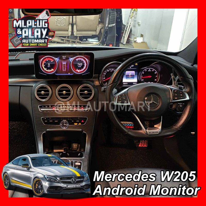 Mercedes Benz C Class W205 - Touch Screen Android Monitor ( C180 / C200 / C250 / C300 / C350 / C43 / C63 )