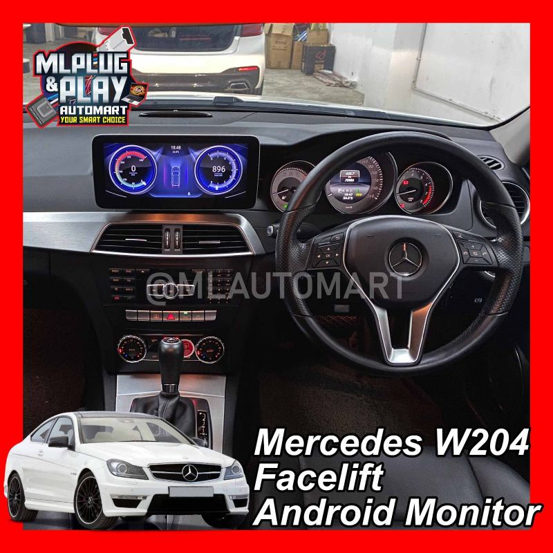 Mercedes Benz C Class W204 Facelift - Touch Screen Android Monitor ( C180 / C200 / C250 / C300 / C350 / C43 / C63 )