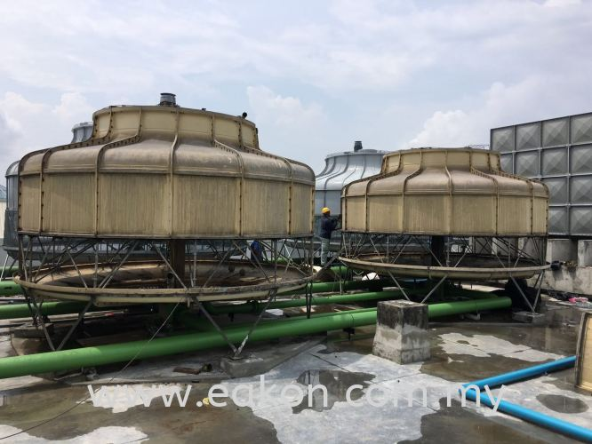 Dismantling cooling tower