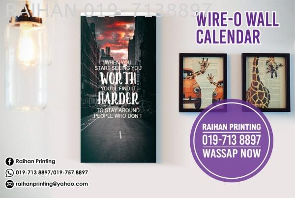 Wire-O Wall Calendar Wire-O Wall Calendar Calendar Melaka, Malaysia, Bukit Katil Printing, Services   Raihan Printing