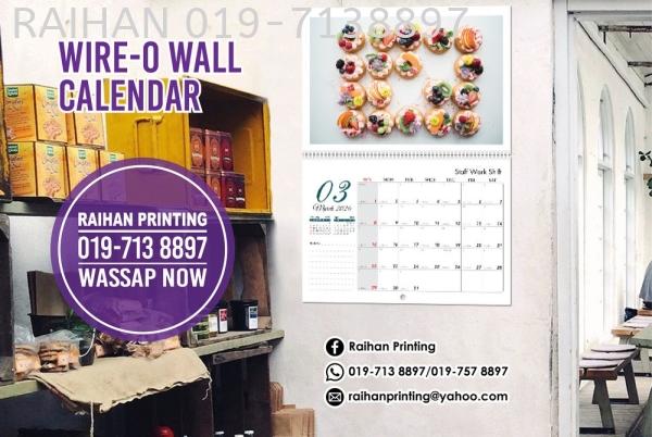 Wire-O Wall Calendar Wire-O Wall Calendar Calendar Melaka, Malaysia, Bukit Katil Printing, Services | Raihan Printing