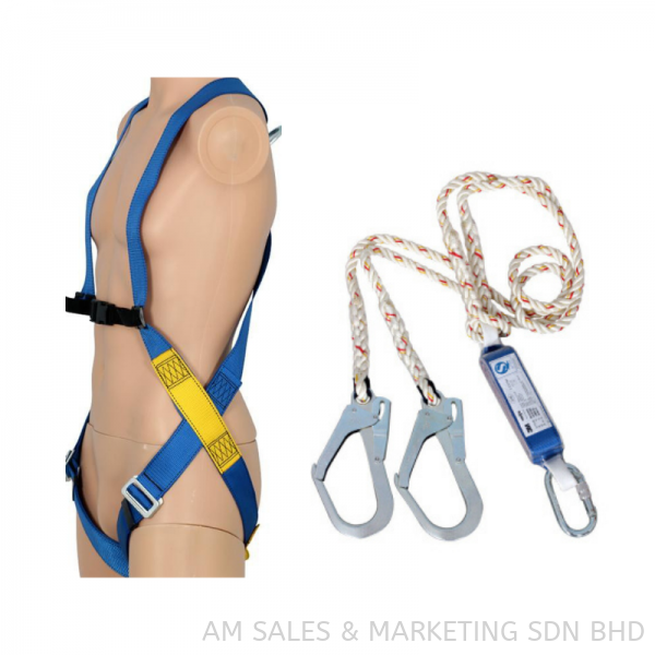 3M Harness 3-Point Harness (1390000) + Double Lanyard (1390235) Free Coffee Tumbler,Showabest Gloves & Table Calender 3M Body Protection Safety Products Selangor, Malaysia, Kuala Lumpur (KL), Melaka, Johor, Penang Supplier, Suppliers, Supply, Supplies | AM Sales & Marketing Sdn Bhd
