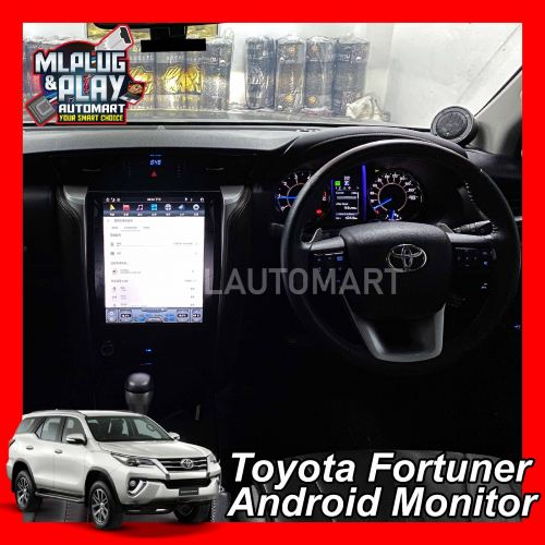 """Toyota Fortuner 2016-18 - 12.1"""" Big Screen Touch Screen Android Monitor"""