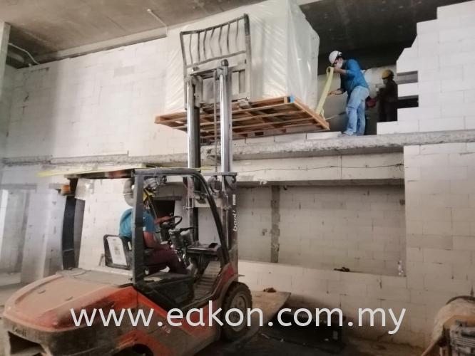 AHU unit loading at AHU Room