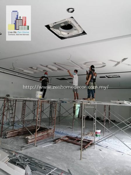Plaster Ceiling With Company Name Renovation works Selangor, Malaysia, Kuala Lumpur (KL), Puchong, Shah Alam Supplier, Suppliers, Supply, Supplies | Zen Home Decor