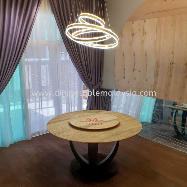 Majestic Dining Table | Roma Travertine | 8 Seaters Marble Dining Table Malaysia, Selangor, Kuala Lumpur Supplier, Suppliers, Supply, Supplies | DeCasa Marble Sdn Bhd