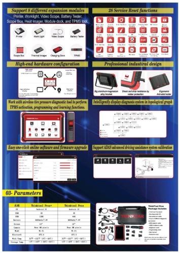 Thinktool Pros Auto Diagnosis Scanner Programming