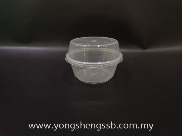 MS11B (500PCS/CTN)  WITH LID Container Container / Plastic Cup / Bottle / Bowl / Plate / Tray / Cutleries / PET Johor Bahru (JB), Malaysia, Muar, Skudai Supplier, Wholesaler, Supply   Yong Sheng Supply Sdn Bhd