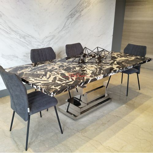 Majestic Dining Table | Tiger Eye | 8 Seaters
