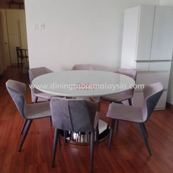 Modern White Marble Table | Sivec White | 6 Seaters 大理石餐桌   制造商,出口商 | DeCasa Marble Sdn Bhd