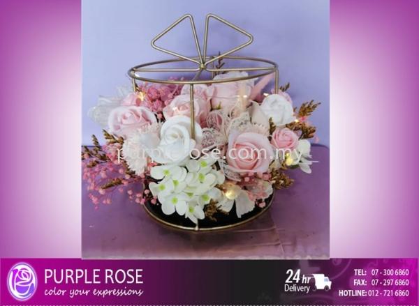 Soap Flower Bouquet Set 75 Soap Flower Bouquet Johor Bahru Supply, Supplier, Delivery   Purple Rose Florist & Gifts