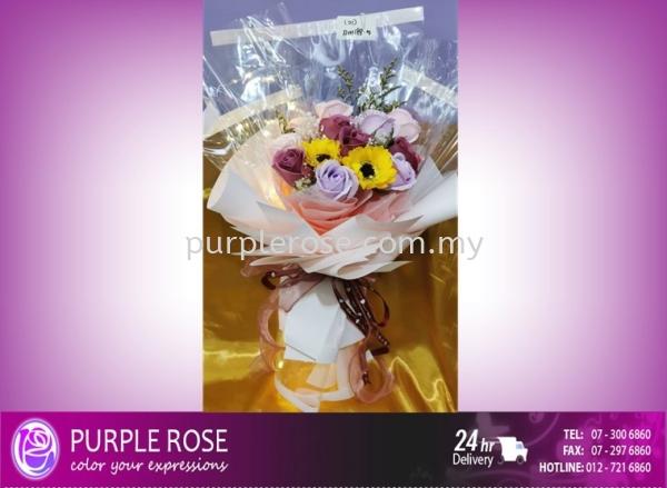 Soap Flower Bouquet Set 86 Soap Flower Bouquet Johor Bahru Supply, Supplier, Delivery | Purple Rose Florist & Gifts