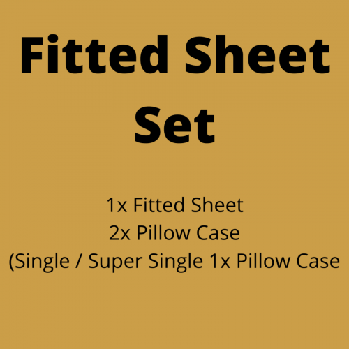Fitted Sheet Set (FTD+PC)