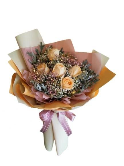 Rose Flower (5 Flowers) Flower Bouquet Bouquet Kedah, Malaysia, Sungai Petani Supplier, Suppliers, Supply, Supplies | U PLAS ENTERPRISE