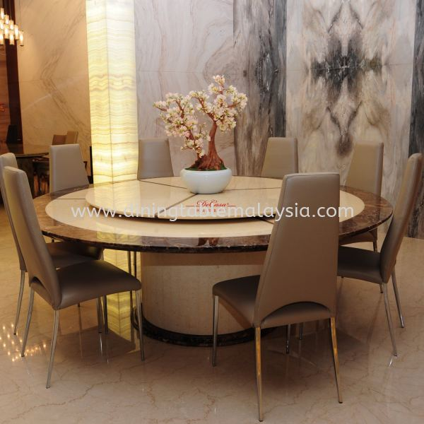 Honey Beige | Eygpt | 12 Seaters | Table only | RM16,000 Round Marble Table Promotion / Clearance Item  Malaysia, Selangor, Kuala Lumpur Supplier, Suppliers, Supply, Supplies | DeCasa Marble Sdn Bhd