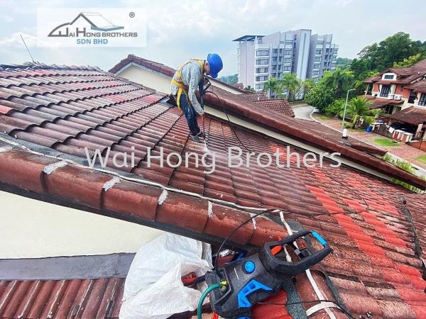 Airless Spray Roof Ceramic Color Coat  Selangor, Malaysia, Kuala Lumpur (KL), Seri Kembangan Services, Contractor, Specialist | Wai Hong Brothers Sdn Bhd