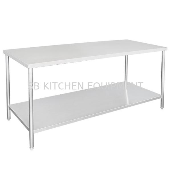 Stainless Steel Working Table (2 Tier) Kitchen Equipment Selangor, Malaysia, Kuala Lumpur (KL), Sungai Buloh Supplier, Suppliers, Supply, Supplies   SB KITCHEN EQUIPMENT