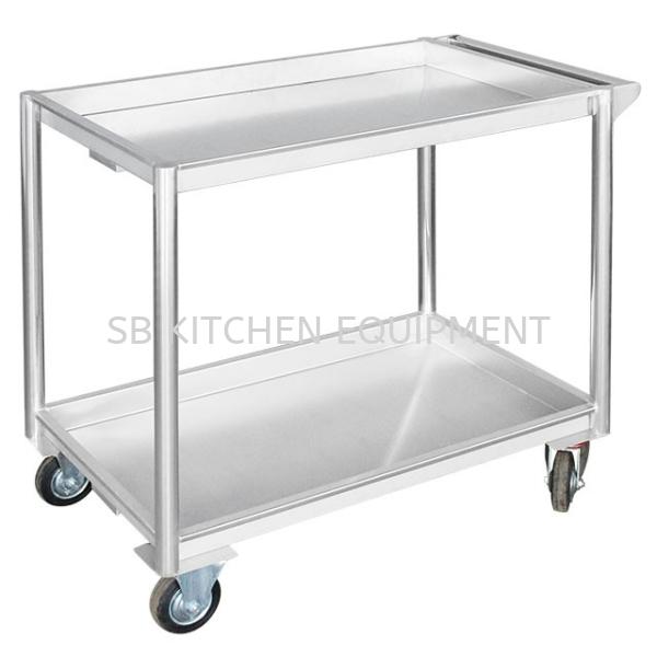 Stainless Steel Food Trolley (2 Tier) Kitchen Equipment Selangor, Malaysia, Kuala Lumpur (KL), Sungai Buloh Supplier, Suppliers, Supply, Supplies   SB KITCHEN EQUIPMENT