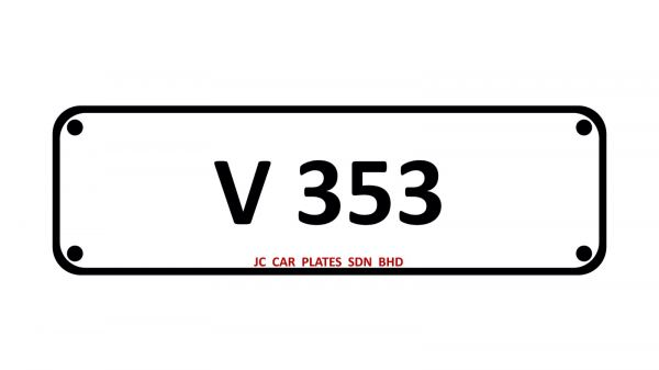 V 353 SPECIAL NUMBER 3 DIGIT Kuala Lumpur (KL), Malaysia, Selangor Dealer, Supplier, Supply, Supplies | JC Car Plates Sdn Bhd