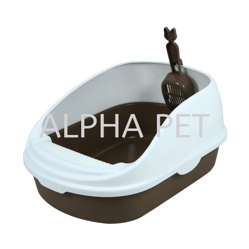Cat Litter Tray With Cover & Scoop (CP6002)
