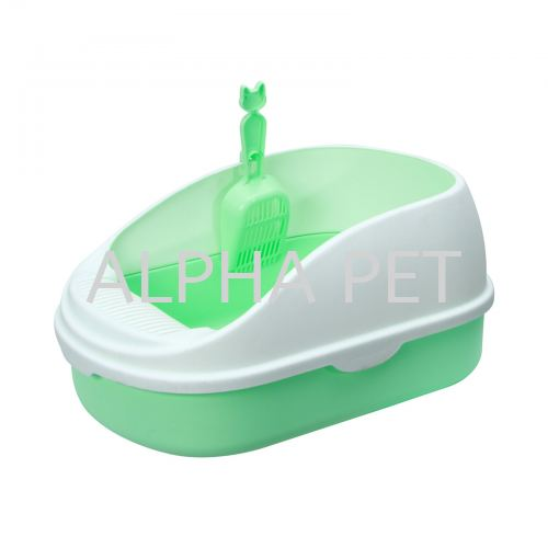 Cat Litter Tray With Cover & Scoop (CP6004)