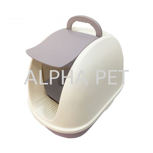 Cat Litter Tray With Cover & Scoop (CP6007)
