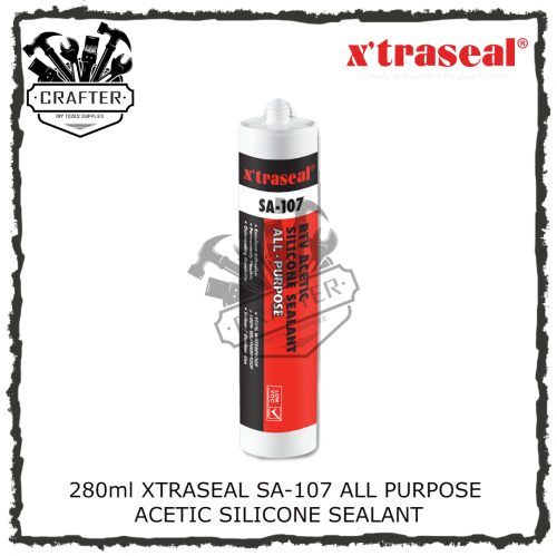 280ml XTRASEAL SA-107 ALL PURPOSE ACETIC SILICONE