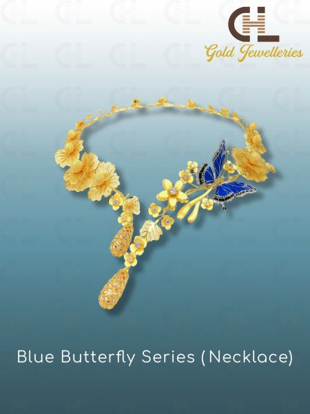 BLUE BUTTERFLY SERIES (NECKLACE) Necklaces Malaysia, Penang Manufacturer, Supplier, Supply, Supplies   CHL Innovation Industries Sdn Bhd