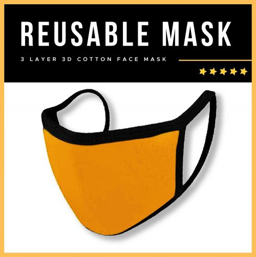 Adult Reusable Face Mask | Fabric Mask / Cotton Mask / 3 Layer Mask / Adult / Clearance Item!!!