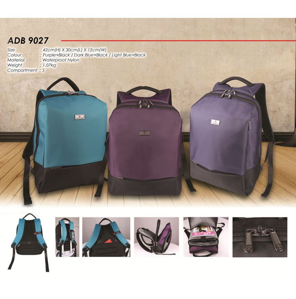 ADB9027 Laptop Backpack (A)